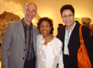 David Leisner with AMR at Tania León's induction into the American Academy of Arts and Sciences. 2011.