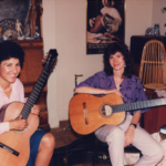 Lesson with Sharon Isbin at her home, 1986.
