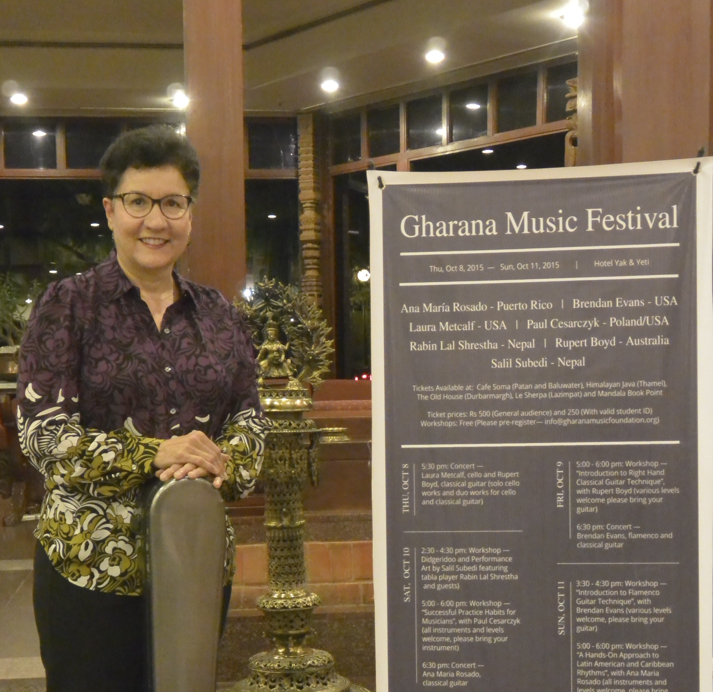 AMR At Hotel Yak And Yeti In Kathmandu On The Eve Of Her Recital For The Gharana Music Festival, In Nepal.